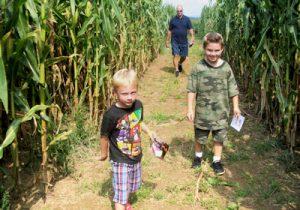 Boys in Maze
